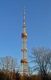 De hoge pylon, radioantenne van de metaaltelecommunicatie, Royalty-vrije Stock Afbeelding