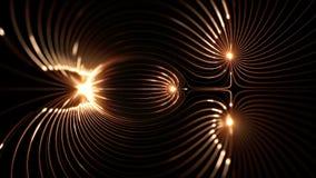 De hoge resolutie voorzag prefectly van een lus lengte van magnetische velden stock illustratie