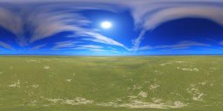 De Hoge resolutiekaart van HDRI De zon in de wolken royalty-vrije stock foto's