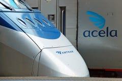 De hoge snelheidstrein Acela van Amtrak Royalty-vrije Stock Foto's