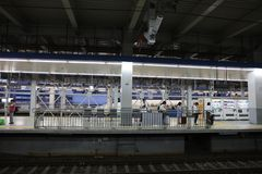 De hoge snelheidsultrasnelle trein van reeksshinkansen Stock Fotografie