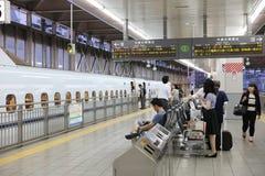 De hoge snelheidsultrasnelle trein van reeksshinkansen Royalty-vrije Stock Foto's