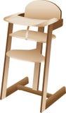 De hoge stoel van de baby of van de peuter Vector Illustratie