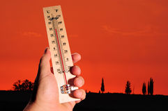 De Hoge Temperaturen van de hittegolf Royalty-vrije Stock Fotografie