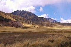 De hoge valleien in de Andes royalty-vrije stock foto