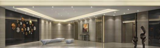 In de hogere flat in van de de luxefamilie van Shanghai van de de badkamers Warme kleur Eenvoudige de stijlstijl, melkachtige wit Stock Foto's