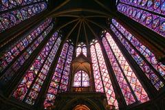 De Hogere Kapel van heilige Chapelle - Parijs Stock Foto