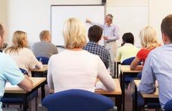 De hogere klasse van het privé-leraaronderwijs Stock Foto