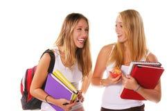 De Hogere Meisjes van de middelbare school Stock Foto's
