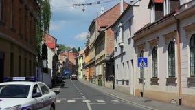 De hogere oude stad van Zagreb stock videobeelden