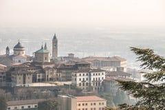 De hogere stad van Bergamo - Citta Alta Royalty-vrije Stock Foto's