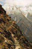 De hogere weg in Himalayagebergte Royalty-vrije Stock Fotografie