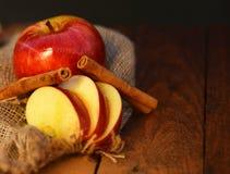 De holding die van de vrouw appeltaart toont Royalty-vrije Stock Afbeelding