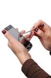 De holding PDA van de vrouw Royalty-vrije Stock Foto