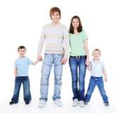 De holding van de familie elkaar overhandigt Royalty-vrije Stock Foto's