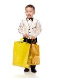 De holding van de jongen stelt voor stock fotografie