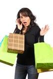 De holding van de vrouw het winkelen zakken Stock Foto's