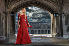 De Holding van de Vrouw van de renaissance nam toe Stock Foto
