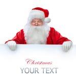 De holdingsBanner van de Kerstman Stock Foto