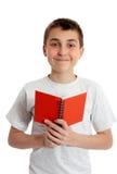 De holdingsboek van de student in beide handen royalty-vrije stock afbeeldingen