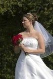 De holdingsboeket van de bruid royalty-vrije stock fotografie