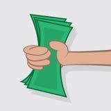 De holdingsContant geld van de hand Royalty-vrije Stock Foto