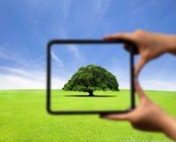 De holdingsframe en nadruk van de hand Royalty-vrije Stock Afbeelding