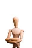 De holdingshanden van de mannequin die op zijn borst worden gekruist Stock Afbeeldingen