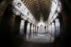De Holen van Ajanta Stock Afbeeldingen