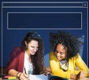 De Homepage van de webpaginawebsite het Doorbladeren Vakje Concept royalty-vrije stock foto's