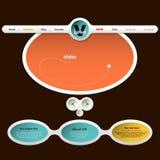 De Homepage van het Webontwerp Royalty-vrije Stock Afbeeldingen