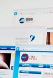 De homepages van Shanghai, van Shenzhen en Hong Kong Stock Exchange- Stock Foto