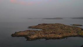 De hommellengte van de archipel van Scandinavië stock footage