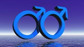 De homoseksuelen koppelen op oceaan stock illustratie