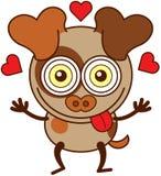 De hond die van Nice gek in liefde vallen vector illustratie