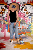 De hond stedelijke graffiti van de tiener Royalty-vrije Stock Fotografie