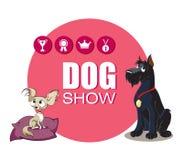 De hond toont Royalty-vrije Stock Afbeeldingen