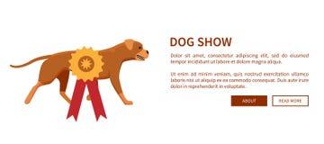 De hond toont Toekenning met Lint Honds Dierlijk Ontwerp royalty-vrije illustratie