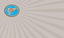 De Hond van de adreskaartjewindhond het Rennen Retro Cirkel Royalty-vrije Stock Foto