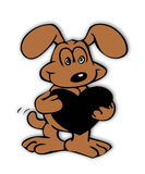 De Hond van de liefde! Stock Afbeelding