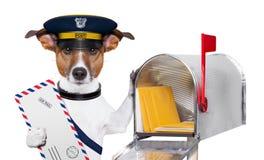 De hond van de post Stock Foto