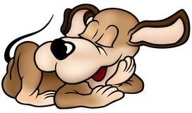 De Hond van de slaap royalty-vrije illustratie