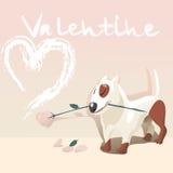 De hond van de valentijnskaart Royalty-vrije Stock Afbeelding
