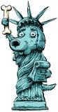 De Hond van de vrijheid Royalty-vrije Stock Afbeeldingen