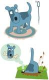 De hond van het beeldverhaal royalty-vrije illustratie