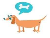 De hond van het beeldverhaal Vector illustratie vector illustratie