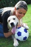 De hond van het voetbal Royalty-vrije Stock Foto