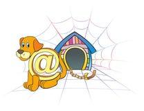 De hond van Internet Stock Foto