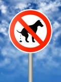 De hond van Pooping Royalty-vrije Stock Foto