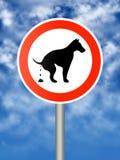 De hond van Pooping Stock Foto's